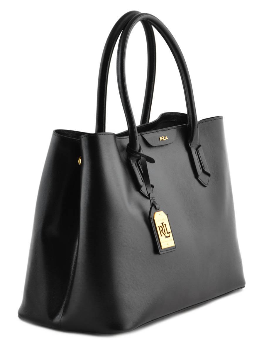 Schoudertas A4 Formaat Tate Leder Lauren ralph lauren tate L3365 TATE ander  zicht  Bucket Bag Dryden Leather Lauren ralph lauren Black ... 438622d29d0cf