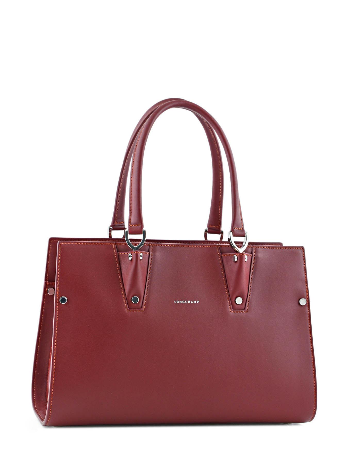 Longchamp Premier Rouge Main Sac Portã© Paris rR8Fq0r