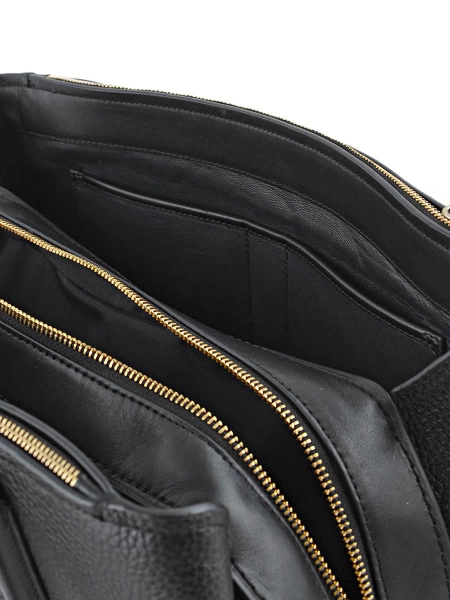 7e6beafeb56bb Sac Porté Main Casual Cuir Coach Noir casual 57276 vue secondaire 7 ...