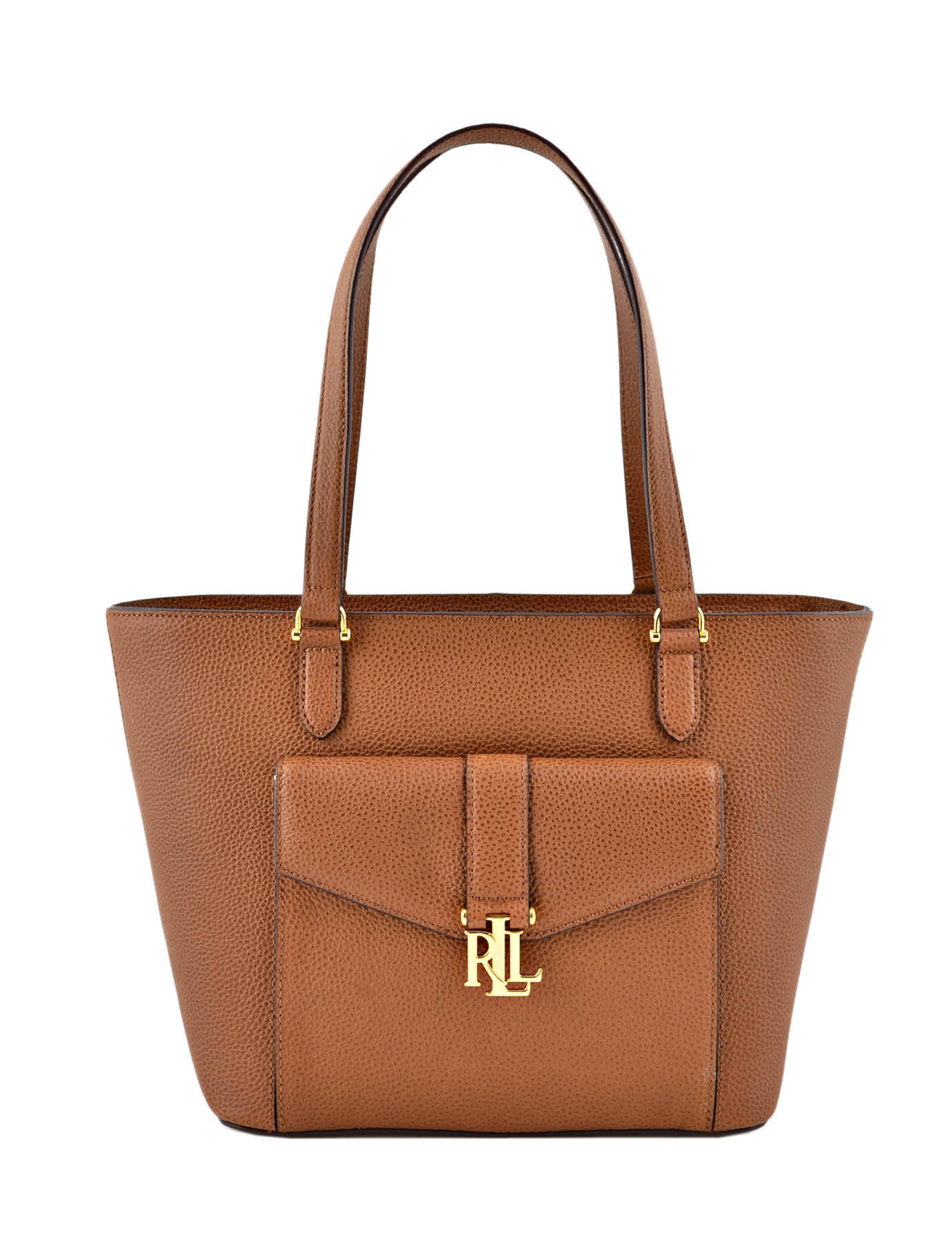 Sac Porté épaule Carrington Cuir Lauren ralph lauren Marron carrington N91XZAFV