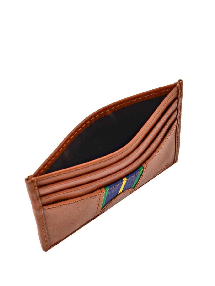 Porte-cartes Cuir Polo ralph lauren Marron wallet A79XZ6O2-vue-porte