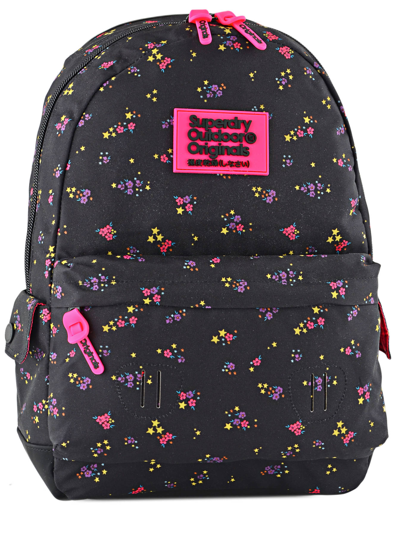 3b8d2617e53 ... Rugzak 1 Compartiment Superdry Zwart backpack woomen G91001NP ...