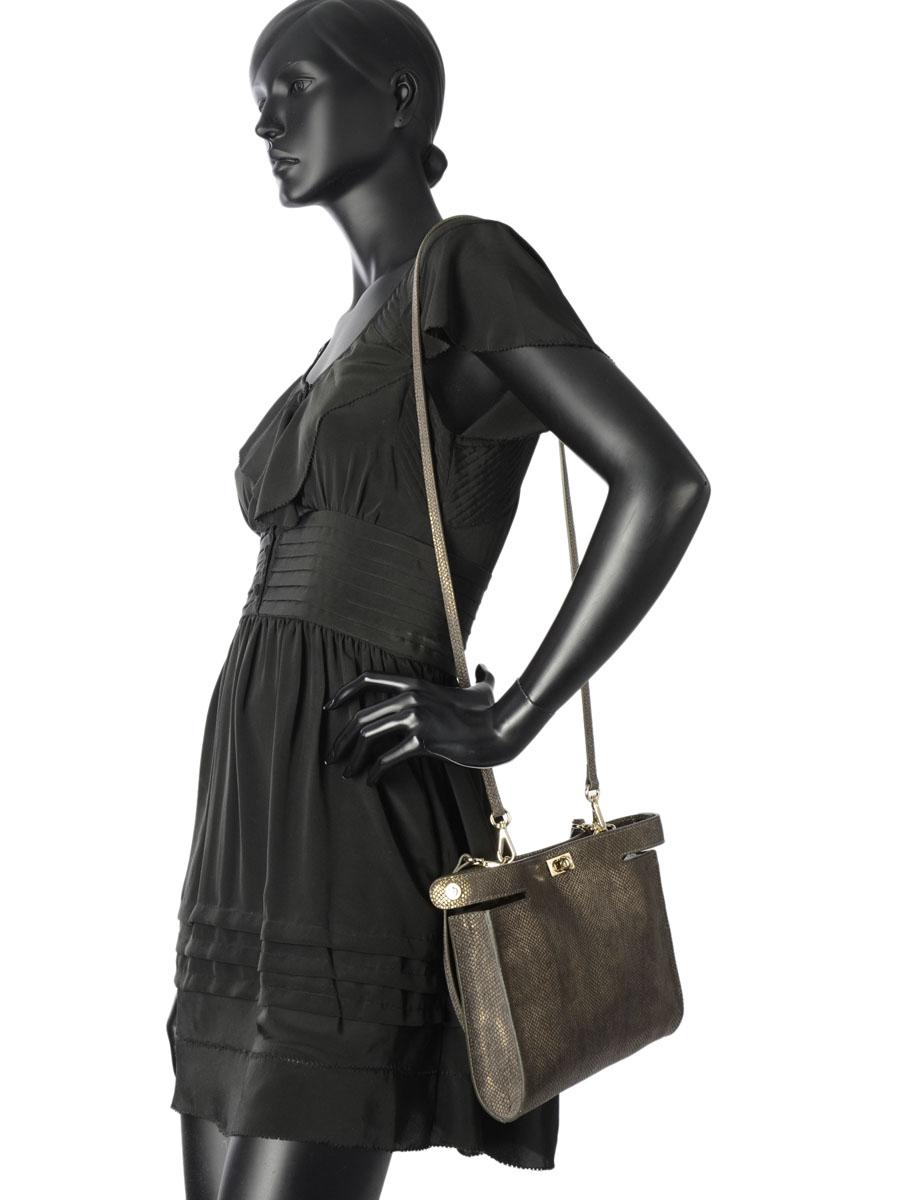 Sac Bandoulière Fashion La pomme de loveley Vert fashion LPF16-57-vue-porte