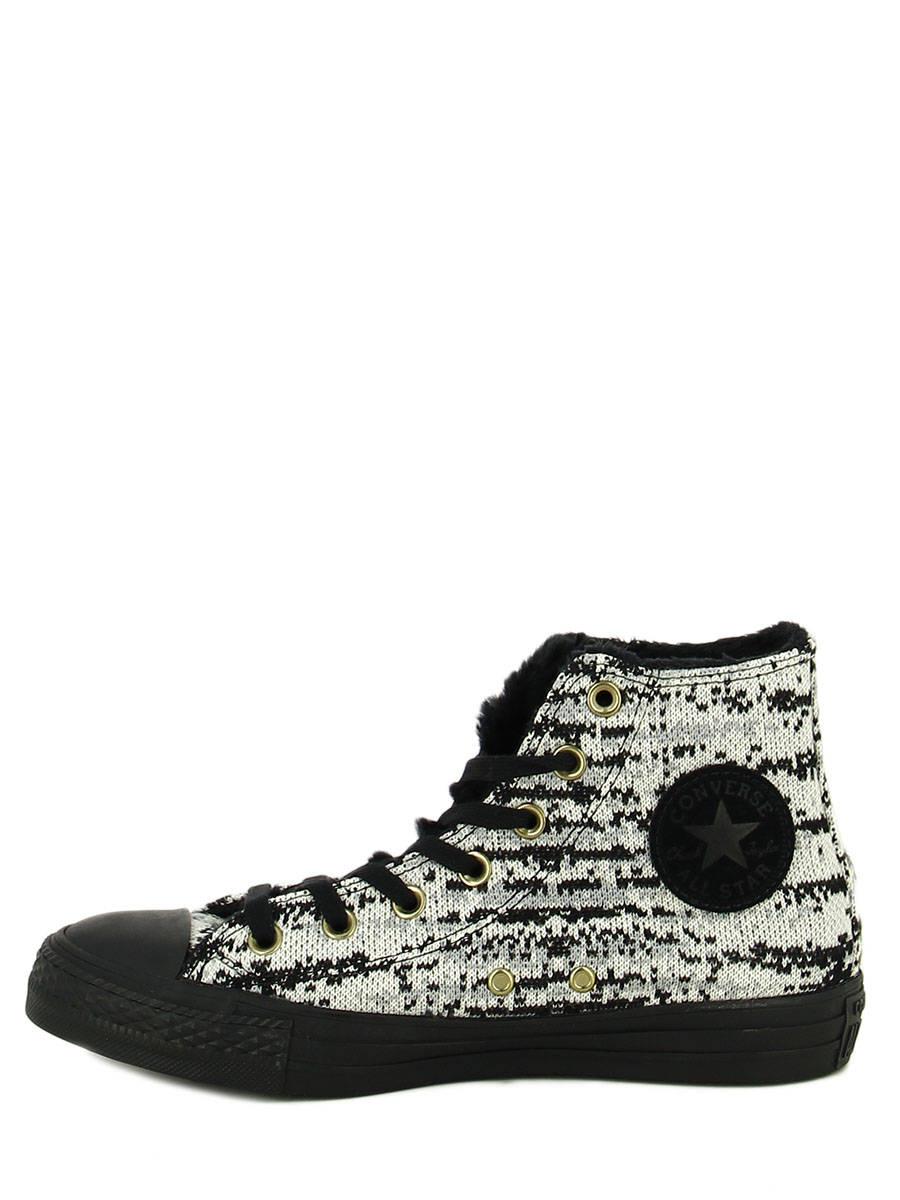 13d967e3102 ... Chuck Taylor All Star Winter Knit Converse Zwart baskets mode 553361C  ander zicht 2 ...