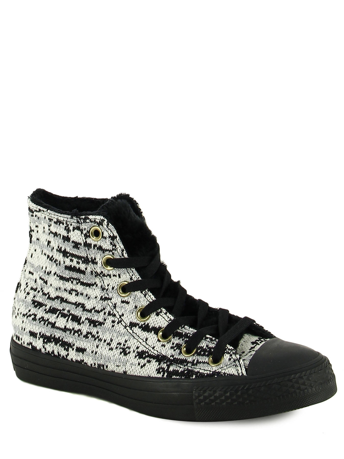 687affec0f8 ... Chuck Taylor All Star Winter Knit Converse Zwart baskets mode 553361C  ...