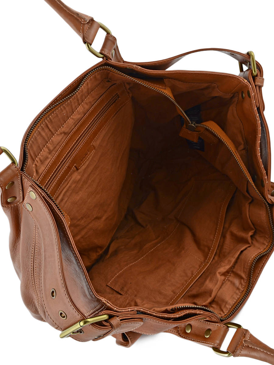 2f062e0894 Sac Shopping Fisherboy Heritage Cuir Ikks Marron les heritiers BK95049 vue  secondaire 4 ...