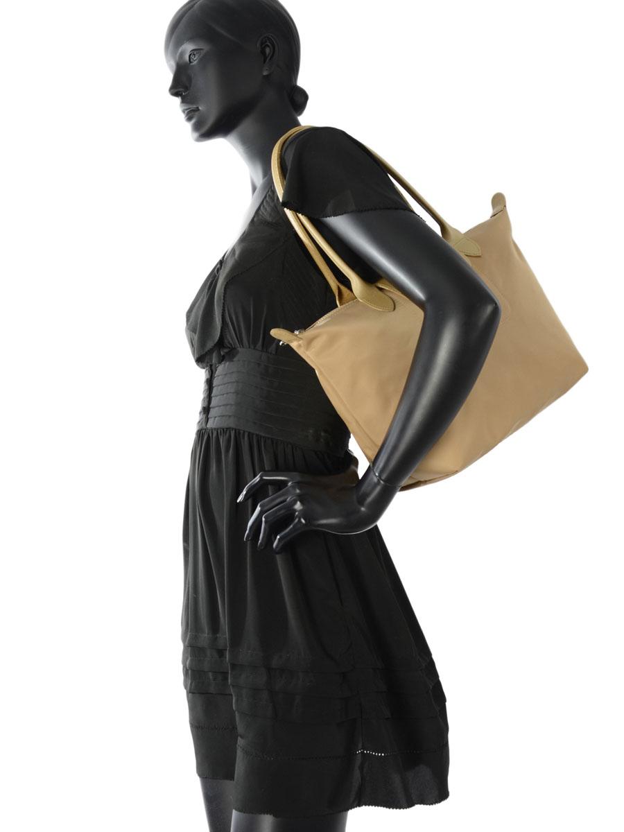 Longchamp Sac porté travers Or-vue-porte