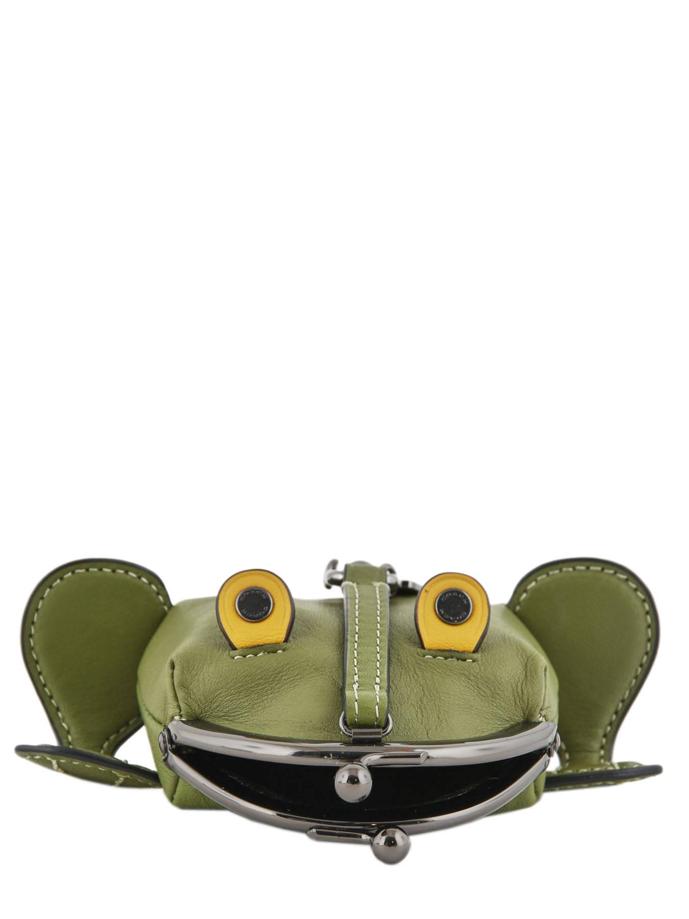 Porte Monnaie Froggy Cuir Coach Vert cases 21094