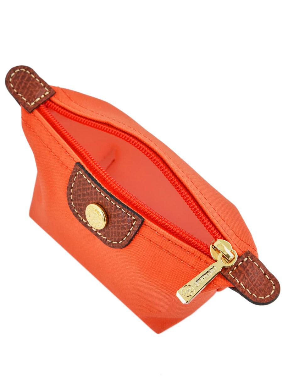 Longchamp Porte monnaie Orange-vue-porte