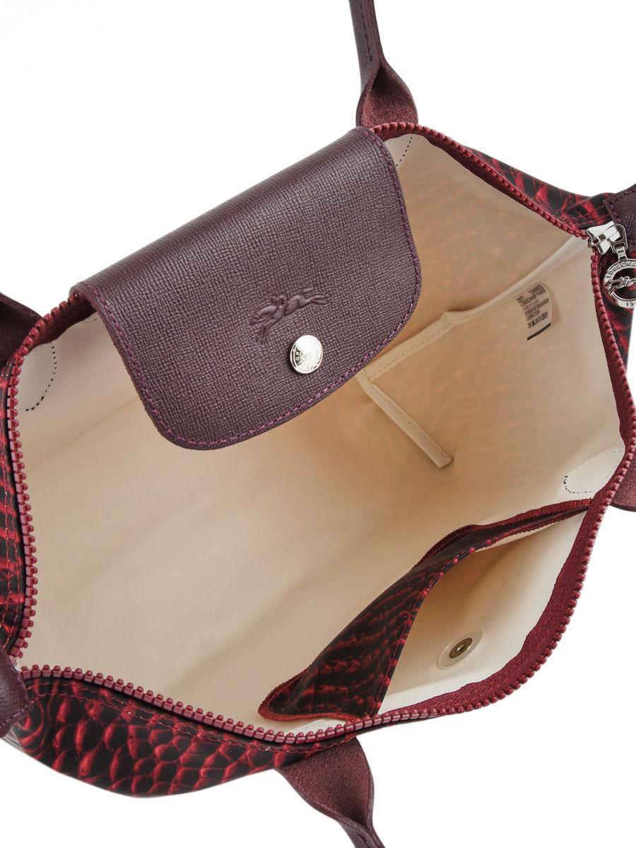 Le Besace Pliage Rouge Longchamp Croco PdfzPq
