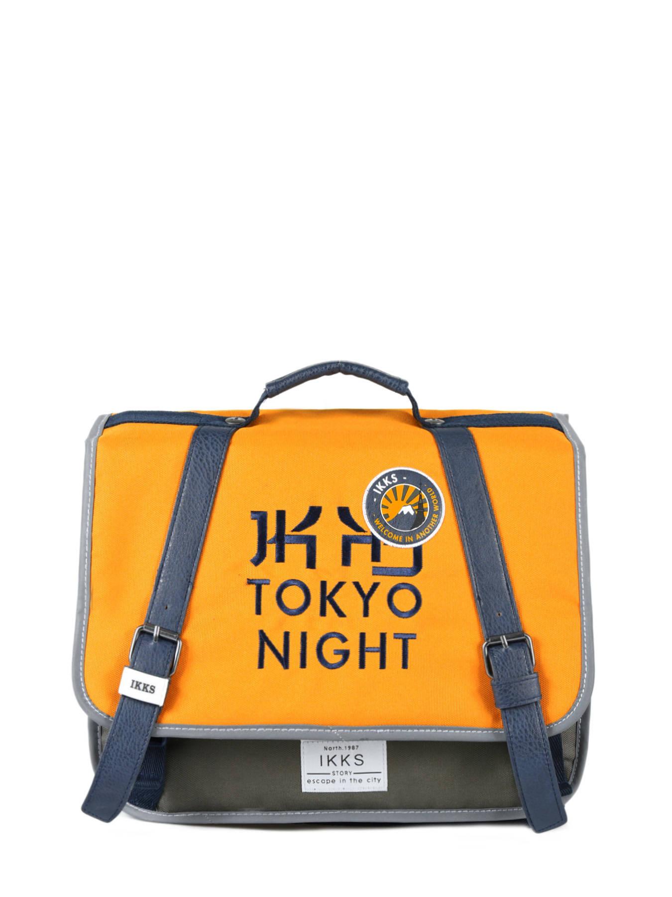 667e28d5aa9 Boekentas 1 Compartiment Ikks Geel backpacker in tokyo 18-35836 ...