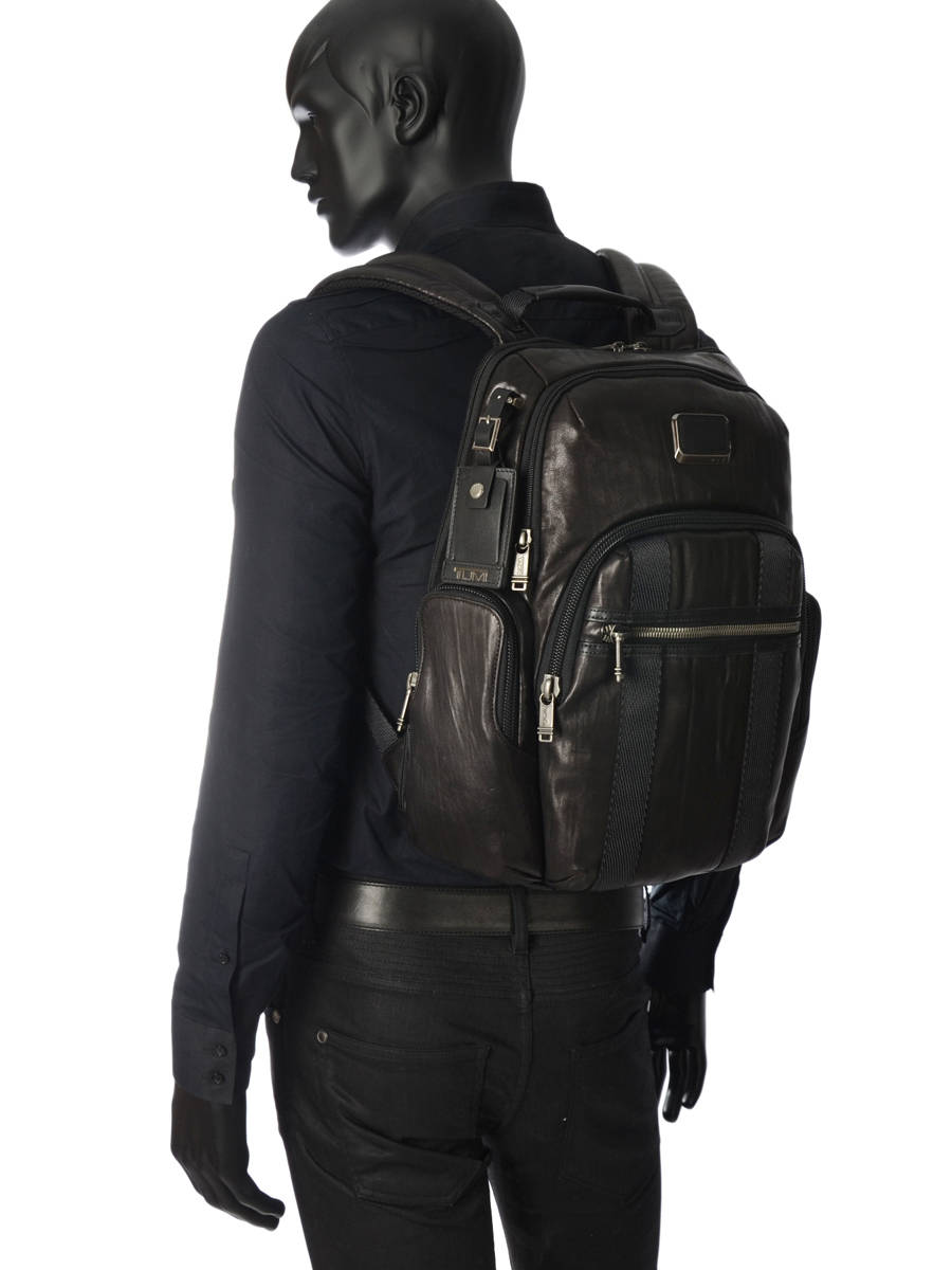 sac dos business tumi alpha bravo leather nellis cuir. Black Bedroom Furniture Sets. Home Design Ideas