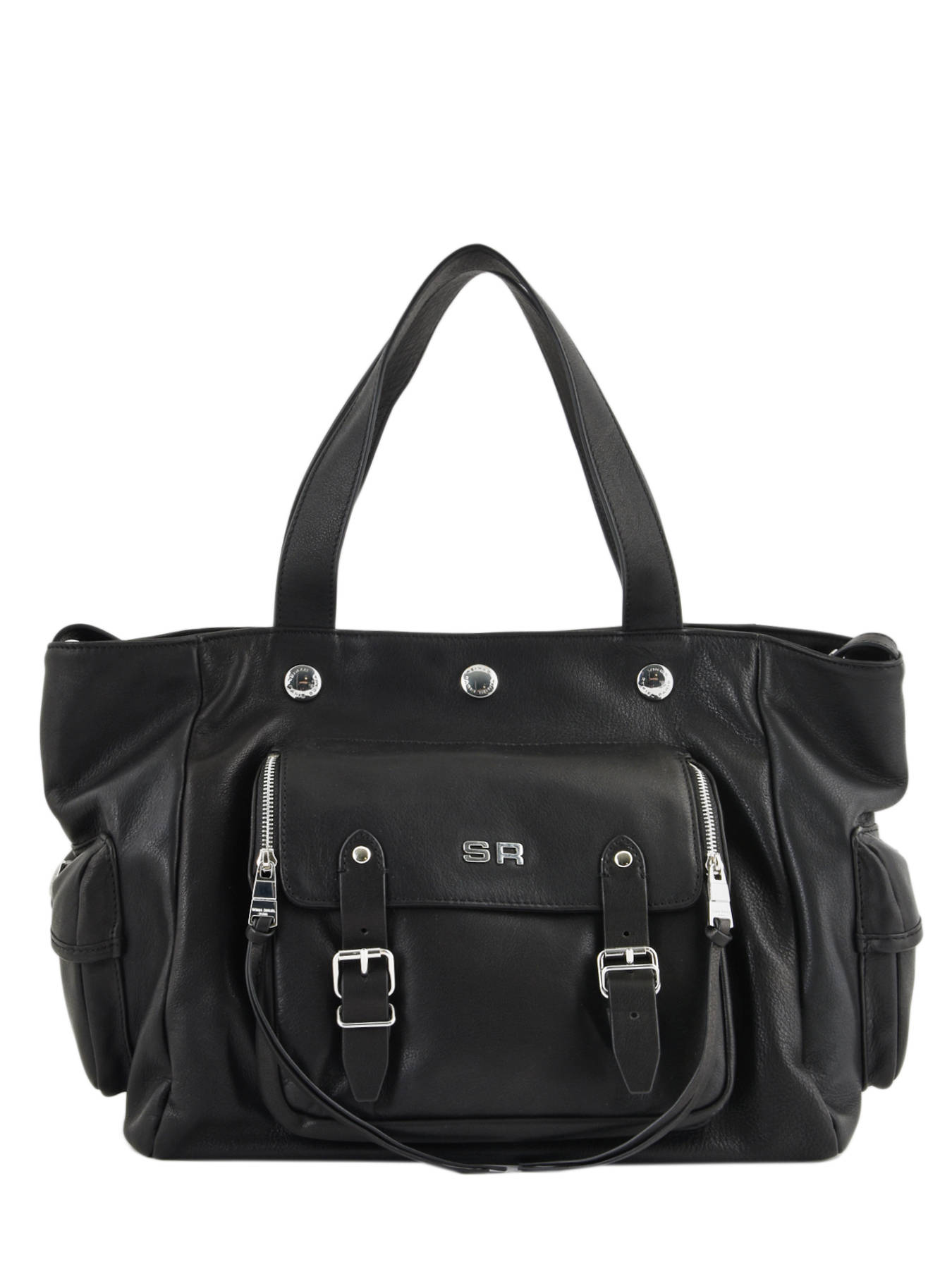8967c192846 ... Sac Shopping Luxembourg Cuir Sonia rykiel Noir luxembourg 2296-44 ...
