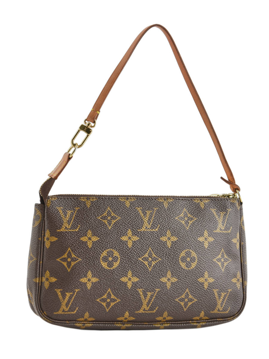 3180fbcf4a9d ... Mini-sac D occasion Louis Vuitton Pouch Monogrammé Brand connection  Marron louis vuitton ...