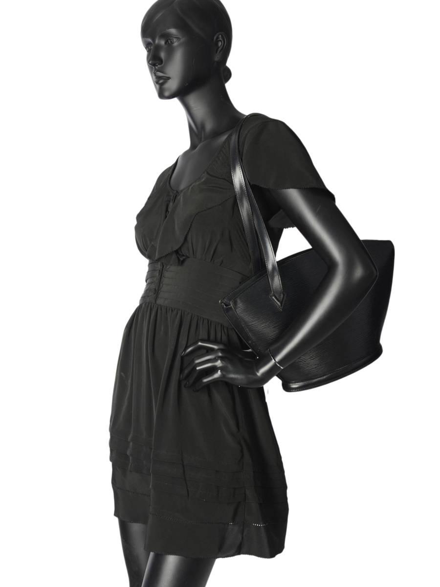 ... Sac Shopping D occasion Louis Vuitton St-jacques Brand connection Noir  louis vuitton 190C ... 26068a0b530