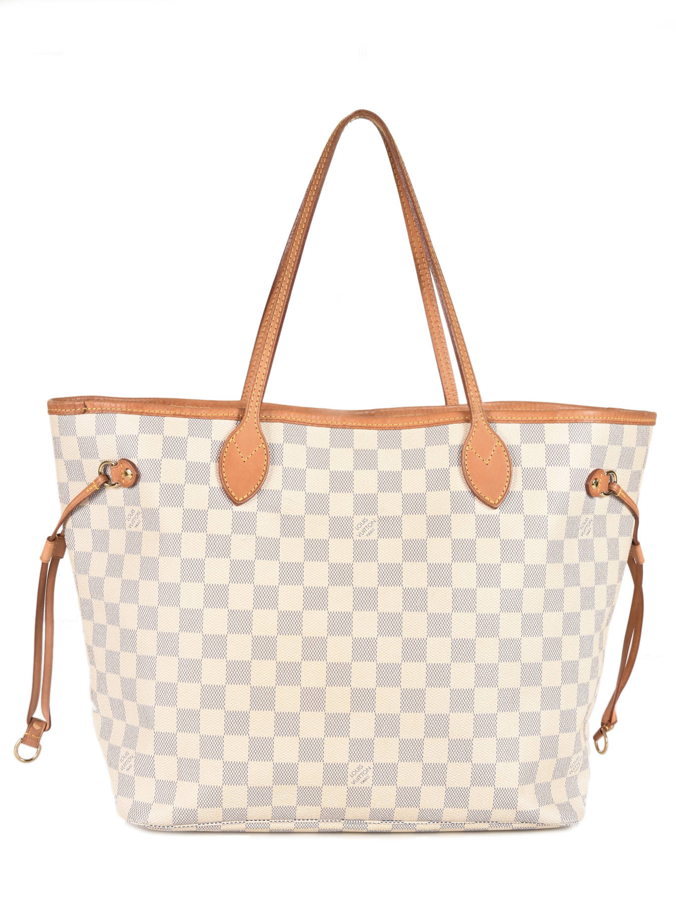 2fd0bacfd5a ... Sac Cabas D occasion Louis Vuitton Neverfull Damier Azur Brand  connection Bleu louis vuitton ...
