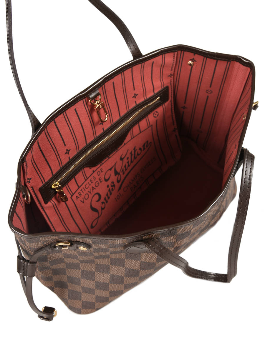 004efadbc412 Sac Porté épaule D occasion Louis Vuitton Neverfull Damier Ebene Brand  connection ...