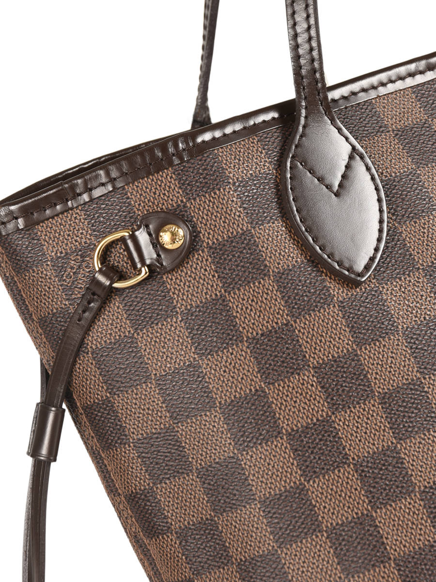 be61b9b23614 ... Sac Porté épaule D occasion Louis Vuitton Neverfull Damier Ebene  Brand connection ...