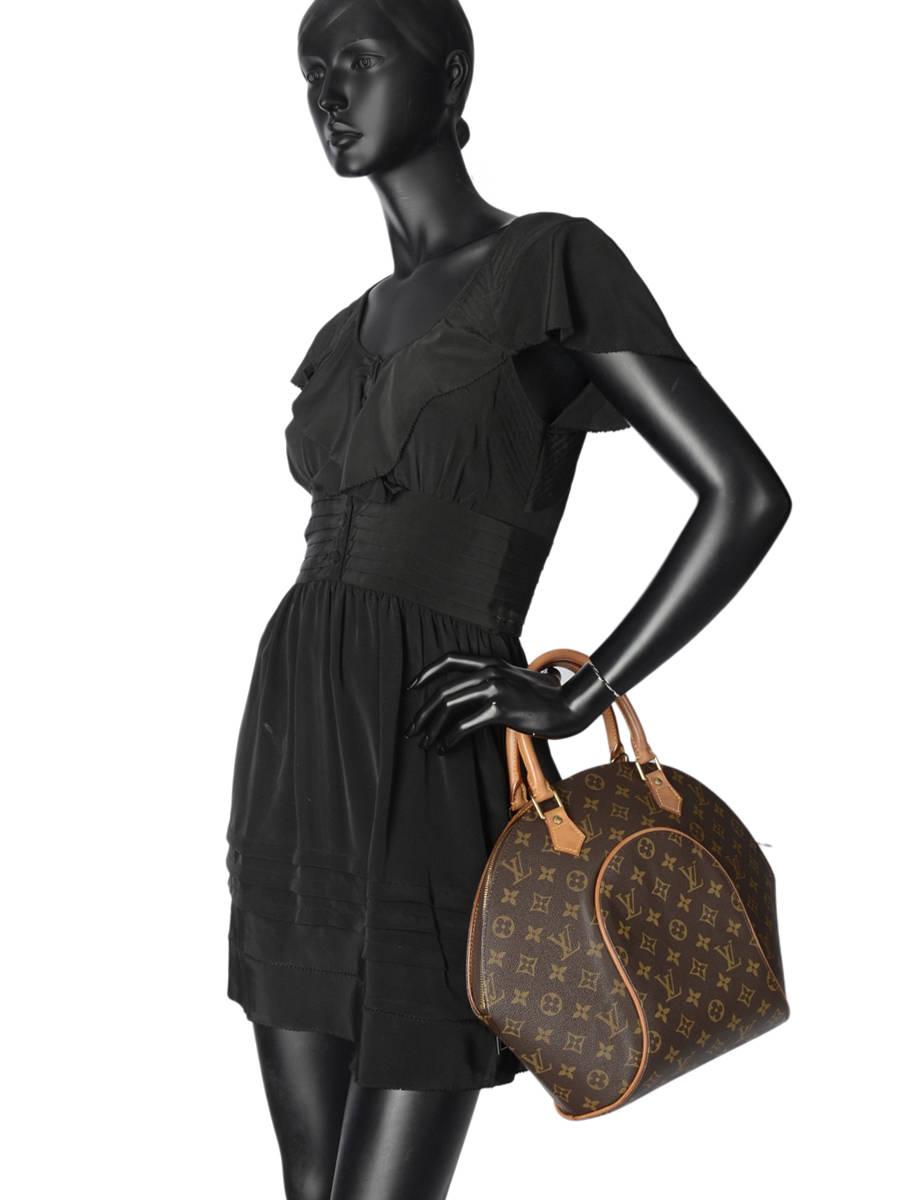8d45f85cc070 ... Sac à Main D occasion Louis Vuitton Ellipse Monogrammé Brand  connection Marron louis vuitton ...
