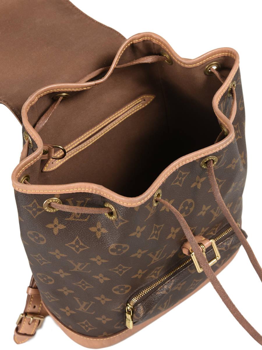 Sac à Dos D occasion Louis Vuitton Montsouris Monogrammé Brand connection  Marron louis vuitton ... 1af403a21d9