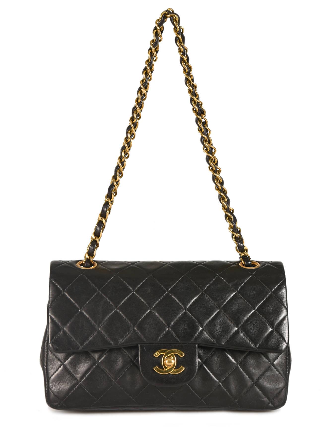 ... Sac Porté épaule D occasion Chanel Classic Double Flap 23 Chanel Cuir  ... b9c69024746
