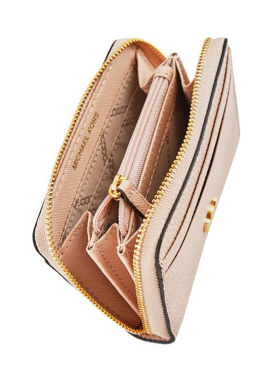 4fe783bd364 Portemonnee Leder Michael kors Roze money pieces T8GF6Z1L ander zicht 2 ...