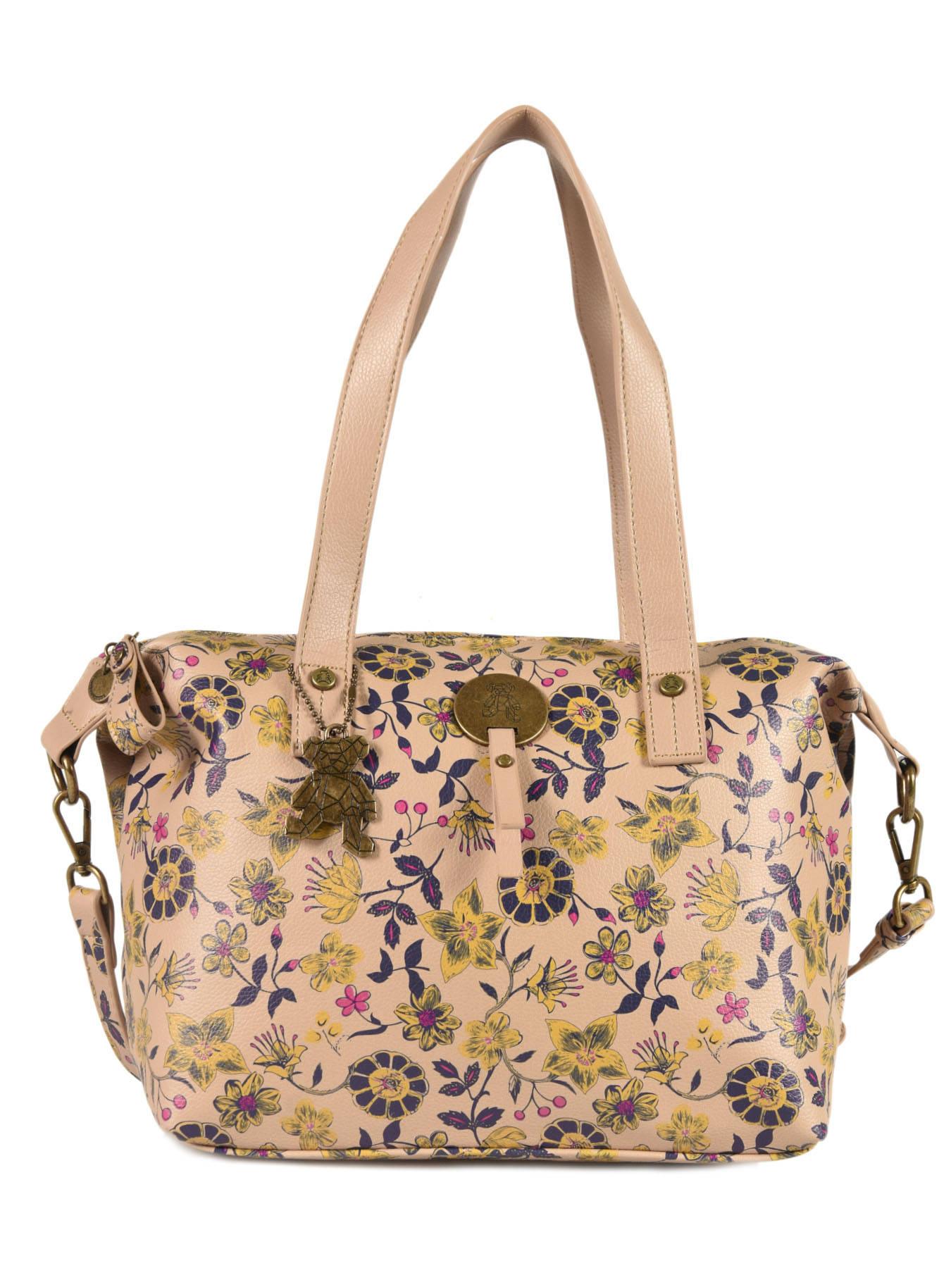 Shopping Lulu Sac Floral Sac Floral Castagnette Shopping UVLqMjSpzG