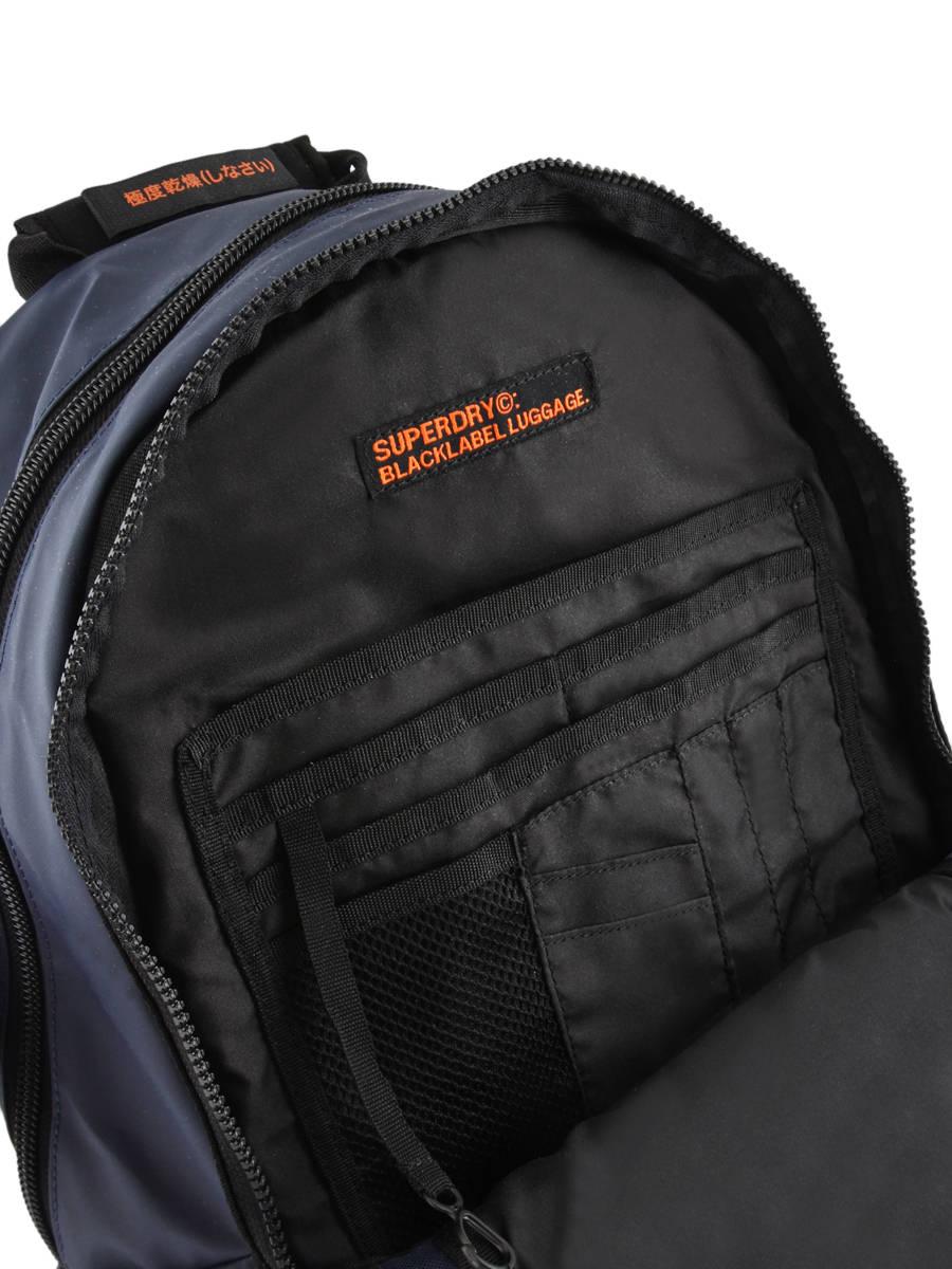 f0b6982e788 Sac à Dos 2 Compartiments Superdry Bleu backpack men M91015MT vue  secondaire ...