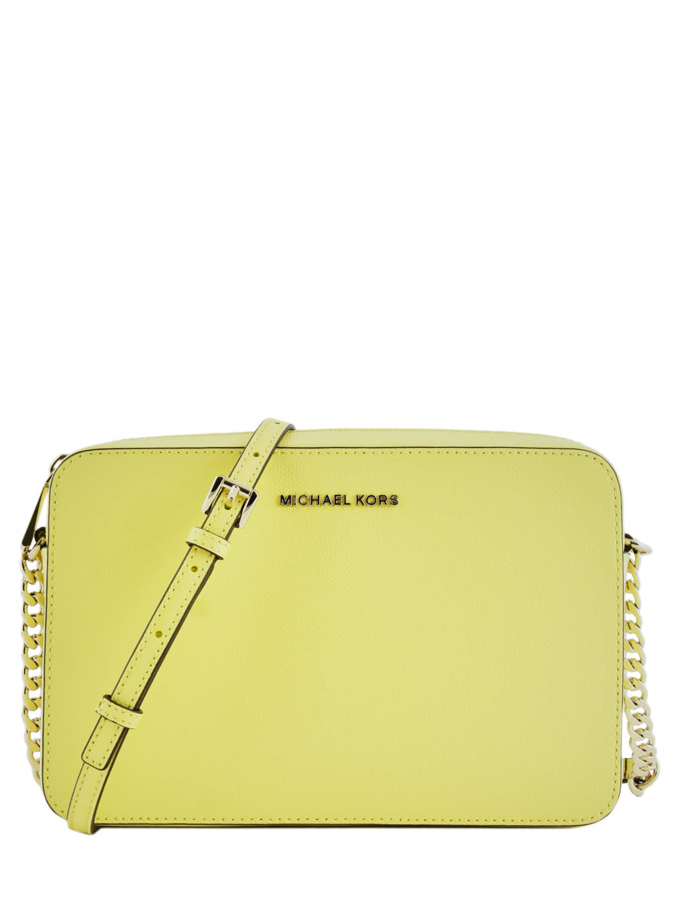 2631d87e07c ... Sac Bandoulière Jet Set Travel Cuir Michael kors Jaune jet set travel  T8TF5C4L ...