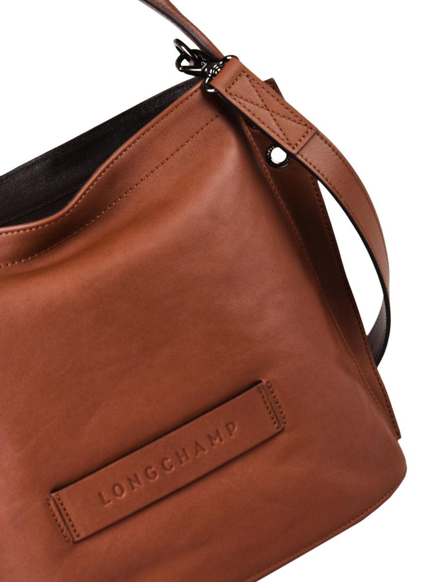 Sac bandoulière zippé Longchamp 3D cuir LONGCHAMP