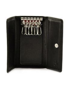 Porte-clefs Cuir Calvin klein Noir montaigne KDY126-vue-porte