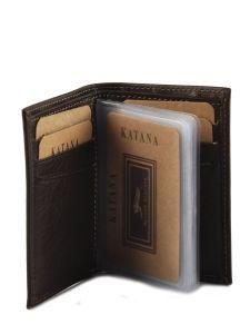Porte-cartes Cuir Katana Jaune vachette gras 853038-vue-porte