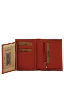 Portefeuille Cuir Katana Orange vachette gras 853046-vue-porte