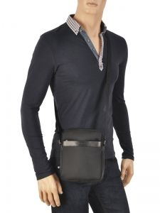 Cross Body Tas Lancaster Zwart basic sport men 304-07-vue-porte