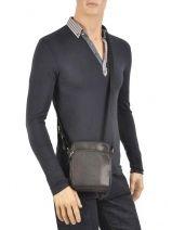 Sac Bandoulière Lancaster Noir soft vintage homme 10-vue-porte