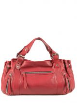 Sac Shopping 24h Cuir Gerard darel Rouge 24h 704-401