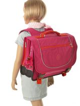Cartable 2 Compartiments Kipling Rose back to school 15078-vue-porte
