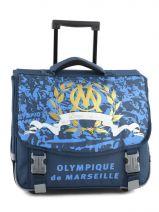 Cartable à Roulettes 2 Compartiments Olympique de marseille Bleu om 153O203R