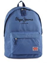 Sac à Dos 1 Compartiment Pepe jeans Bleu plain color blue 60423