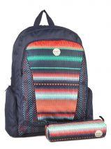 Sac à Dos 3 Compartiments Avec Trousse Offerte Roxy Multicolore backpack JBP03112