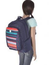 Sac à Dos 3 Compartiments Avec Trousse Offerte Roxy Multicolore backpack JBP03112-vue-porte
