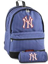 Sac à Dos 2 Compartiments Avec Trousse Offerte Mlb/new-york yankees Bleu couture NYX22038