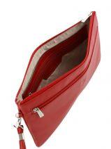 Avondtas Leder Hexagona Rood confort 467211-vue-porte