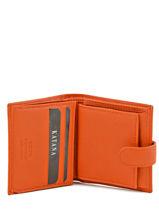 Porte-monnaie Cuir Katana Orange daisy 553035-vue-porte