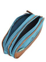 Trousse 2 Compartiments Cameleon Bleu vintage VINTROUS-vue-porte
