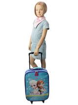 Valise Enfant Frozen Bleu elsa et anna 182-6620-vue-porte