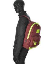 Sac à Dos 1 Compartiment Superdry Marron backpack U91MD000-vue-porte