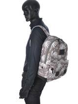 Sac à Dos 1 Compartiment Superdry Gris backpack U91MD001-vue-porte