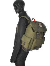 Sac à Dos 1 Compartiment Superdry Vert backpack U91MG005-vue-porte