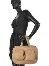 Sac Porté Main Wrapped Around Cuir Cowboysbag Beige wrapped around 1663-vue-porte